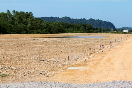 reclamation: Reclamation area in preparation for construction