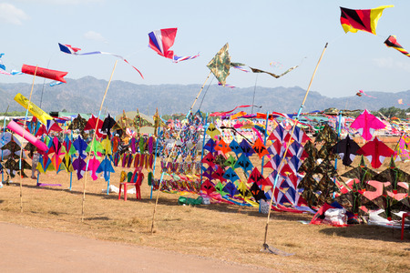 Satun, Thailand - 27 February 2014  Satun, together with the Tourism Authority of Thailand  Office Satun Kite festival Tradition of the 34th and Satun International Kite 2557 between February 28 to March 2, 2557 at the RAF airfield dig Klong Muang Satun