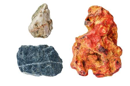 stones isolated: stones isolated on white background