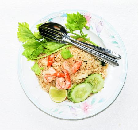 chinese food: Shrimp fried rice background