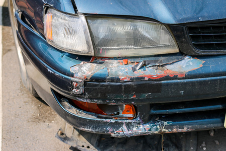 damaged cars: The accident damaged cars