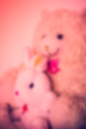 stuffed toys: Blurred stuffed toys With vintage style