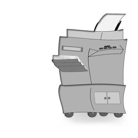 xerox: Photocopier on white background