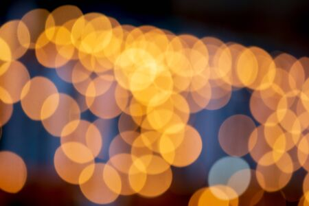 Abstract background Yellow bokeh lights 스톡 콘텐츠