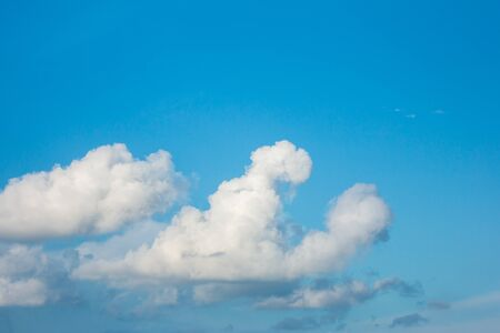 white cloud on blue sky background.