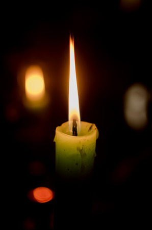 flickering: Candle Stock Photo