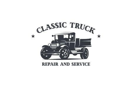 logo de camion rétro Logo