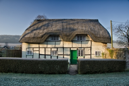half timbered: Cottage house,village old house in Egland