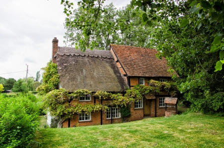half timbered house: Cottage house,village old house in Egland
