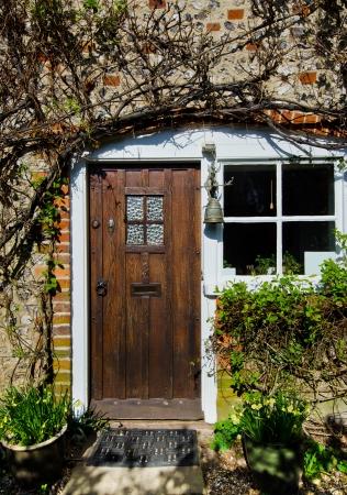 english village: Front Cottage door