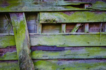 ruined wooden background Stock Photo