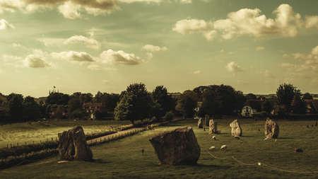 Avebury Henge and Stone Circles, Wiltshire, England Stock Photo
