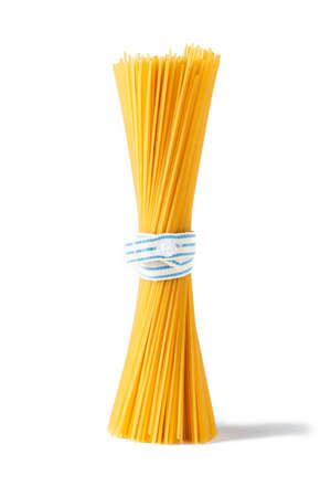 Bunch of italian pasta isolated on white