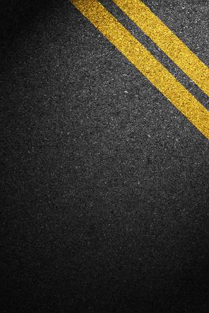 Weg asfalt textuur met scheidingslijnen