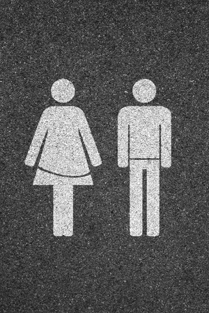 conquering adversity: Girl & Boy road sign