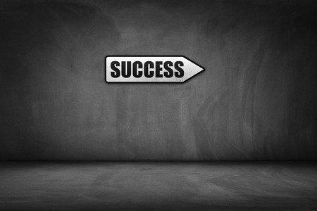directional sign: Business concept: directional sign with success text. Stock Photo