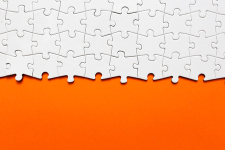 business solution: Jigsaw puzzle Stock Photo