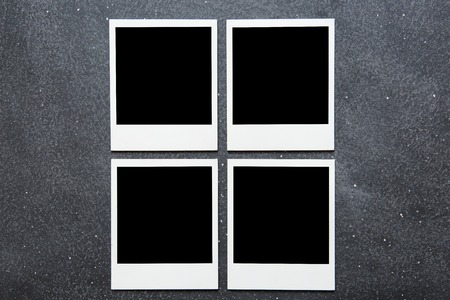 straight pin: Picture frame on gray background.