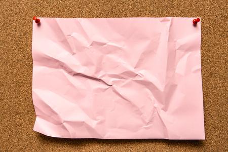 worn: Worn out note on Corkboard.