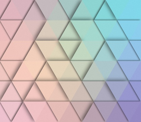styled: Abstract triangle retro styled colorful background.