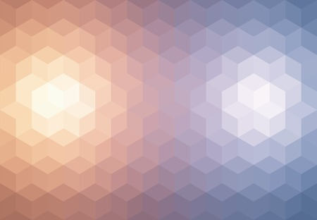 styled: Abstract cubes retro styled colorful background.