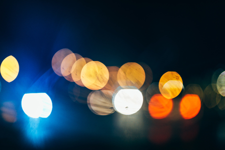 Abstract city lights in the night.
