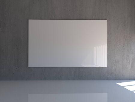 Empty white 3d modern room