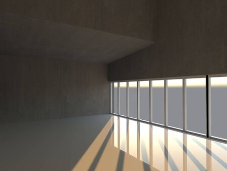 Empty Modern Interior Stockfoto