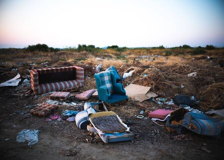 Garbage furniture on the street