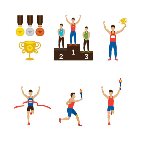 trophy winner: Sports Athletes Winner, Torch Runner, Champion, Goal, Medal, Trophy, Games