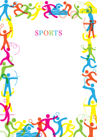 border running sports colorful frame sports athletics games symbol include