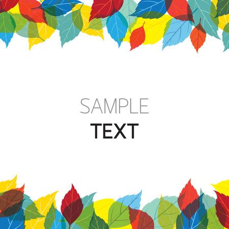 season: Colorful Leaves Background, Season, Foliage Illustration