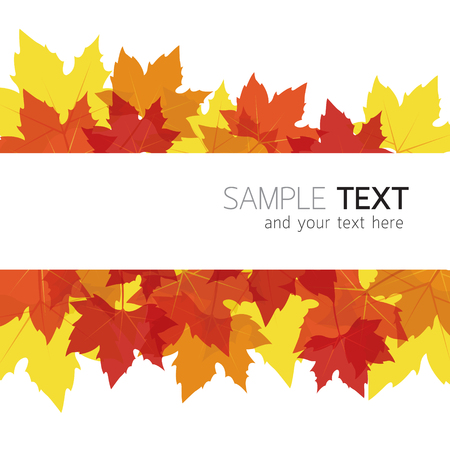 Maple Leaves Background, Autumn Season, Foliage, Border