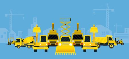 heavy construction: Construction Vehicles Various Type Display, Heavy Equipment, Machinery, Engineering