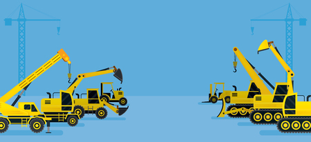 heavy construction: Construction Vehicles Display Background, Heavy Equipment, Machinery, Engineering