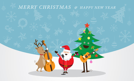 Characters, Merry Christmas and Happy New year