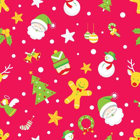 Seamless Pattern : Christmas Objects Illustration