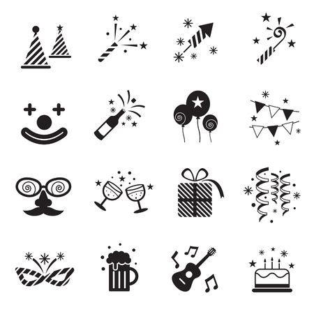bw: B&W Icons Set : Party Objects