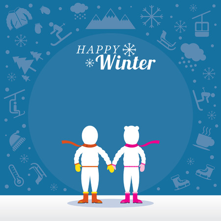 hot couple: Snow, Travel and Vacation