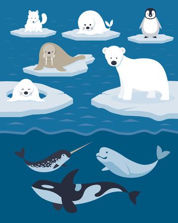 Zima, Nature Travel and Wildlife Ilustracje wektorowe