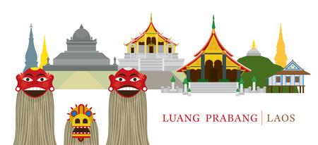 Luang Prabang, Laos, Landmarks and Pou Yer, Ya Yer (Guardian Spirits of Luang Prabang, Ceremony in Lao new year)
