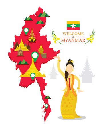 Myanmar Map and Landmarks, Traditional Dance, Culture, Travel and Tourist Attraction