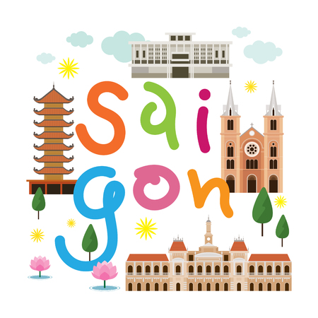 Saigon or Ho Chi Minh City, Vietnam Travel and Attraction, Landmarks, Tourism and Traditional Culture