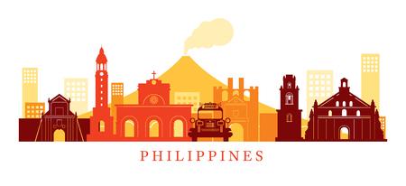 필리핀 건축물 랜드 마크 스카이 라인, 모양, 도시, 여행 및 관광 명소