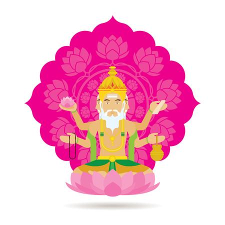 Hindu god. Stock Vector - 83755990