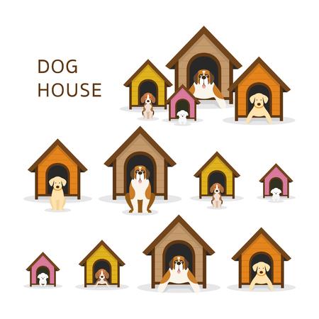 Hunde in Hundehütte oder Zwinger