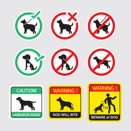Dogs Symbols Signs Allowed and Prohibited Banque d'images - 102385224