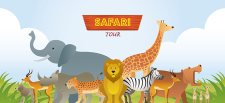 Group of African Safari Animals, Cute Animals, Nature and Wildlife