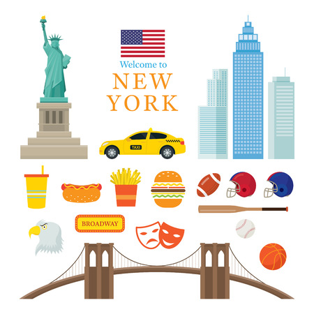 New York Landmarks Objects, United States of America, USA, Travel and Tourist Attraction