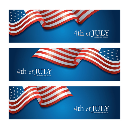 Flag of United States Of America 4th July Banner, Independence Day